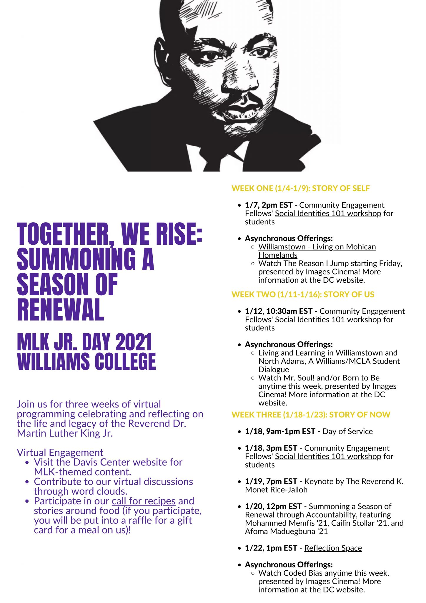 MLK Jr. Day Event Poster