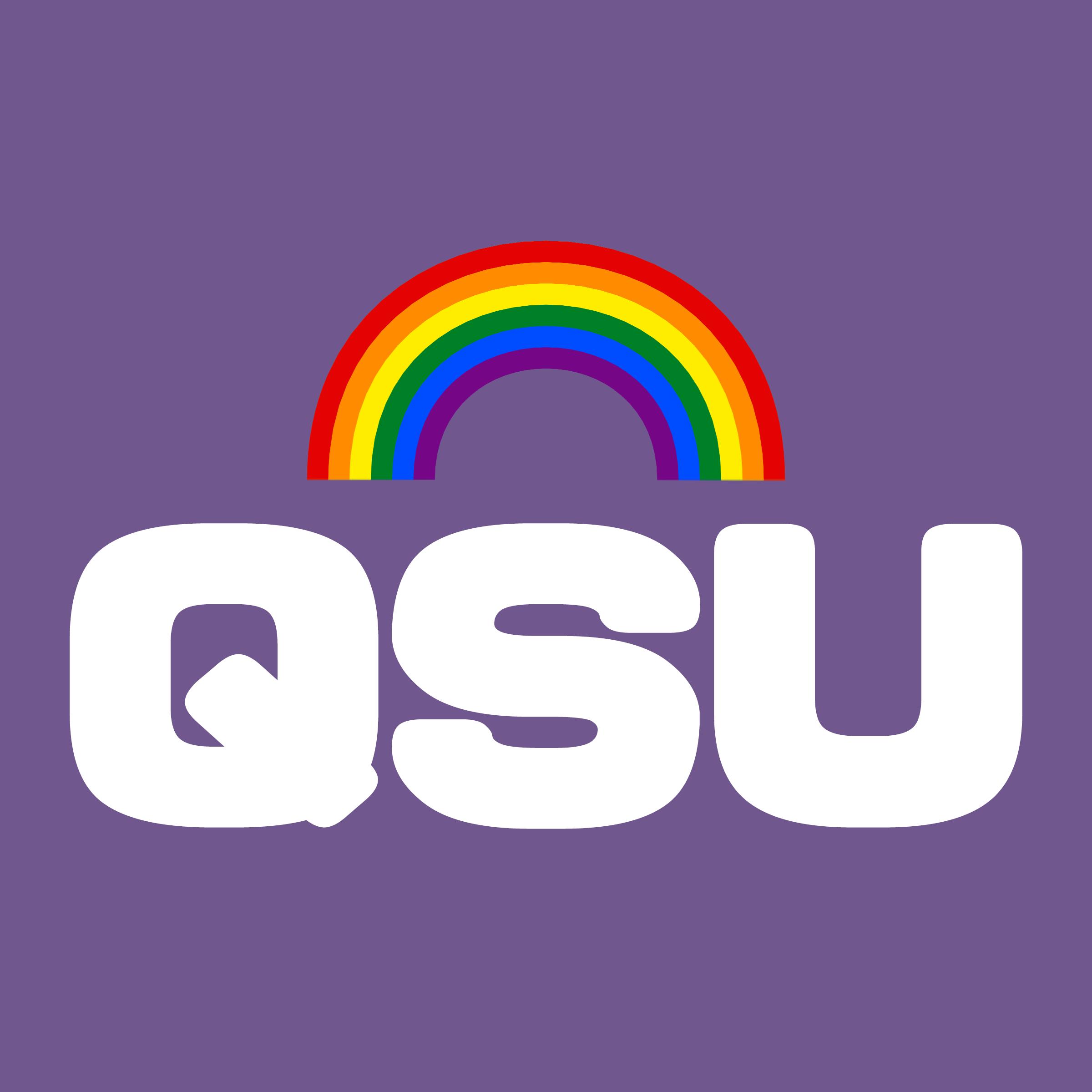 2021-2022 Queer Student Union QSU logo