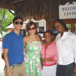 (L-R) Mellon Fellows Aston Gonzalez, Marcela DiBlasi, Amy Steele and WCURF Fellow Haydee Lindo at Jacobs Pillow in Becket, MA.