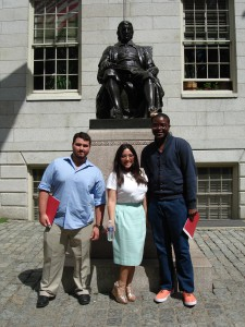 Mellon Fellow Alexander Pena, Davis Fellow Daniela Zarate and University of Cape Town Mellon Fellow Paballlo Chauke
